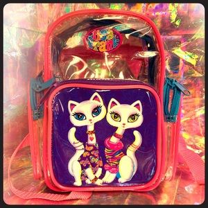 Lisa FRANK Roxie Rollie cats mini backpack 90sRARE